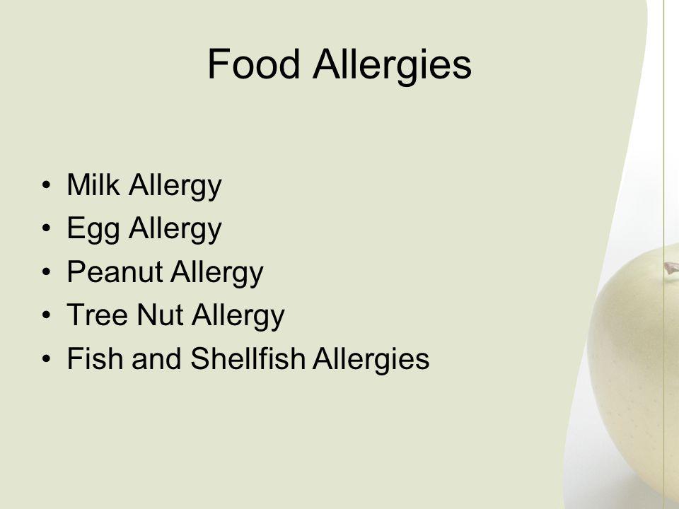 Food Allergies Milk Allergy Egg Allergy Peanut Allergy