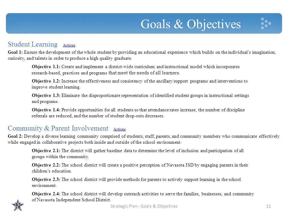 Strategic Plan - Goals & Objectives