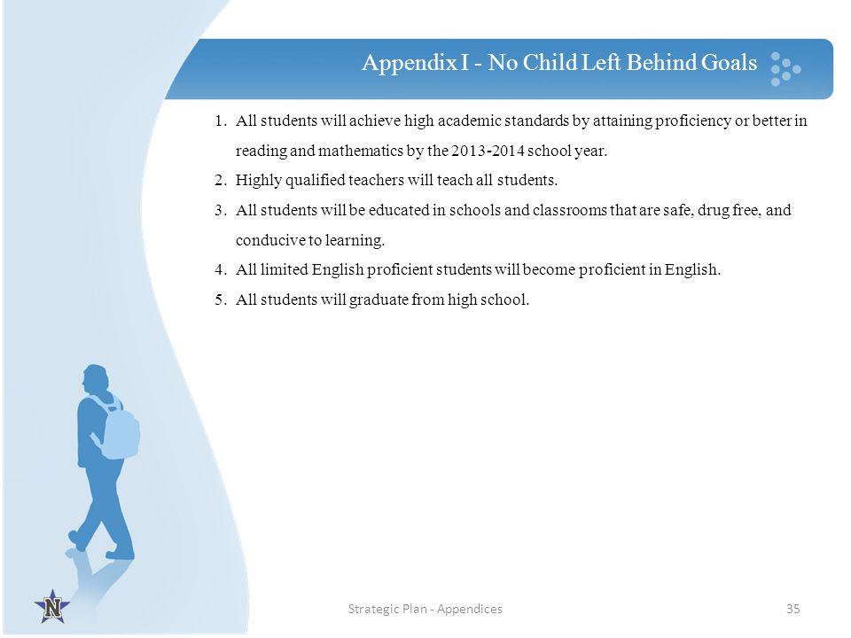 Appendix I - No Child Left Behind Goals