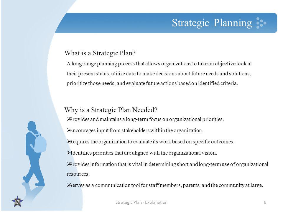 Strategic Plan - Explanation