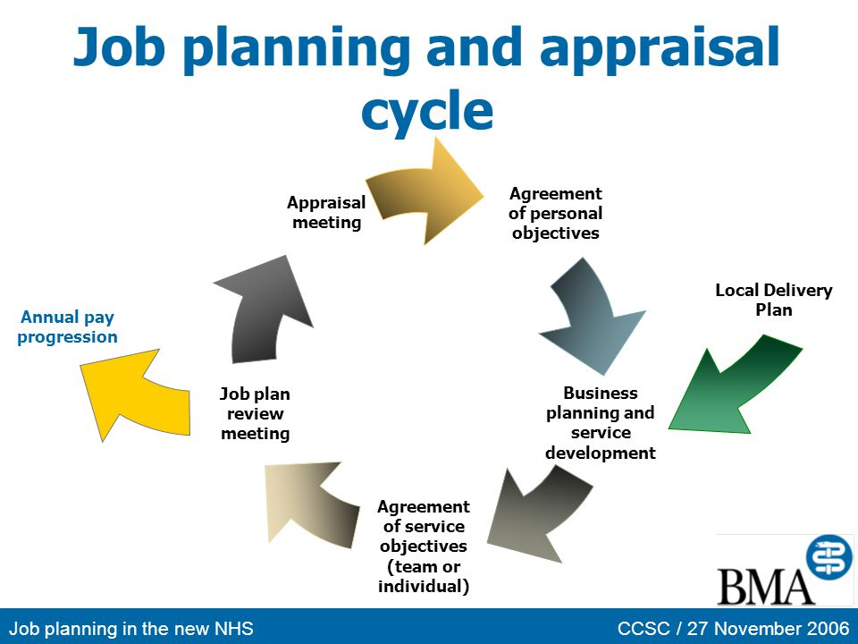 Job planning and appraisal cycle