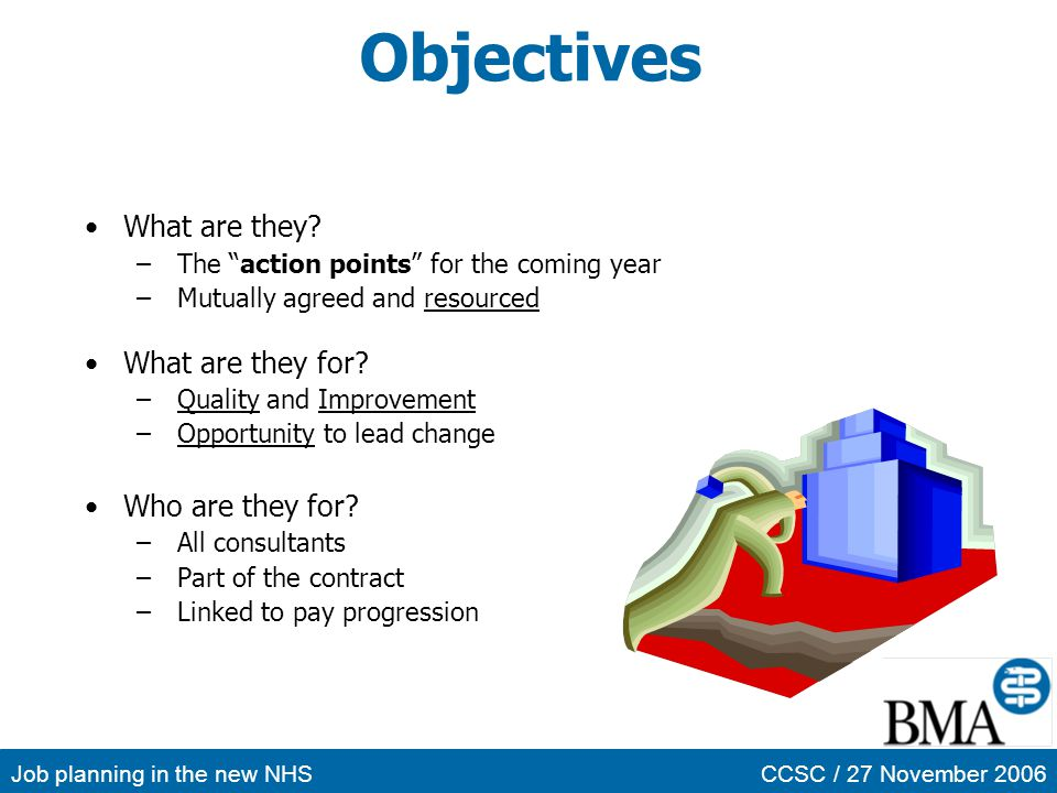 Objectives What are they What are they for Who are they for
