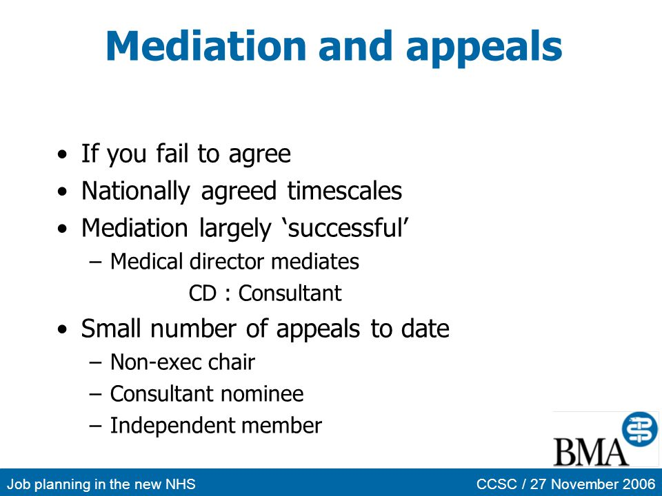 Mediation and appeals If you fail to agree