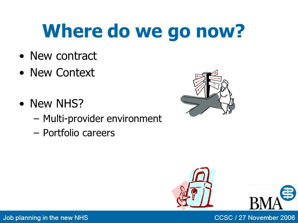 Where do we go now New contract New Context New NHS