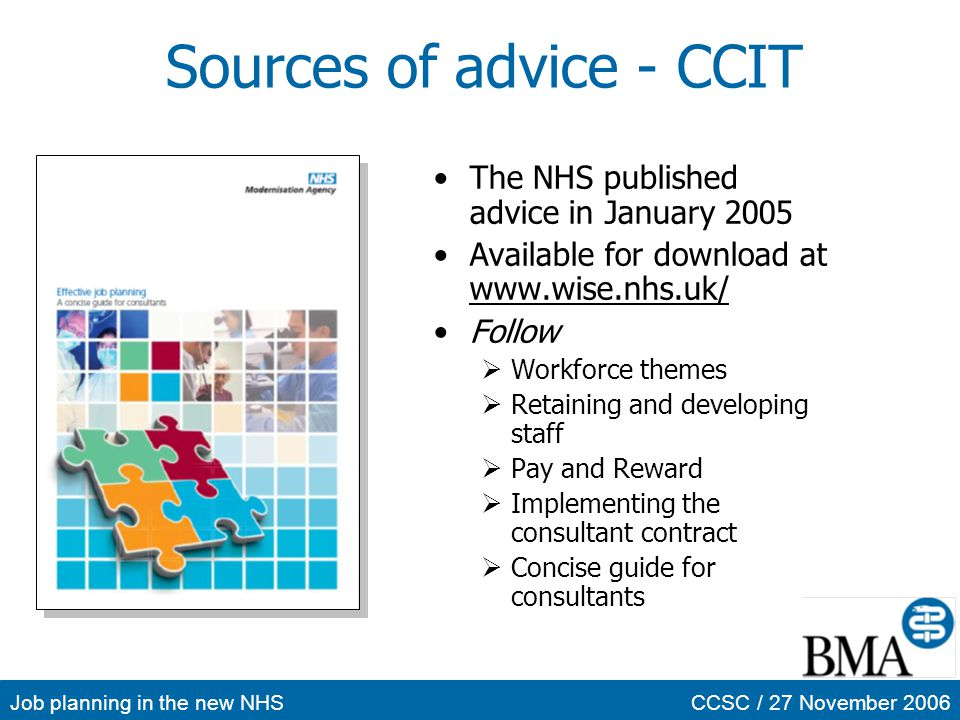 Sources of advice - CCIT
