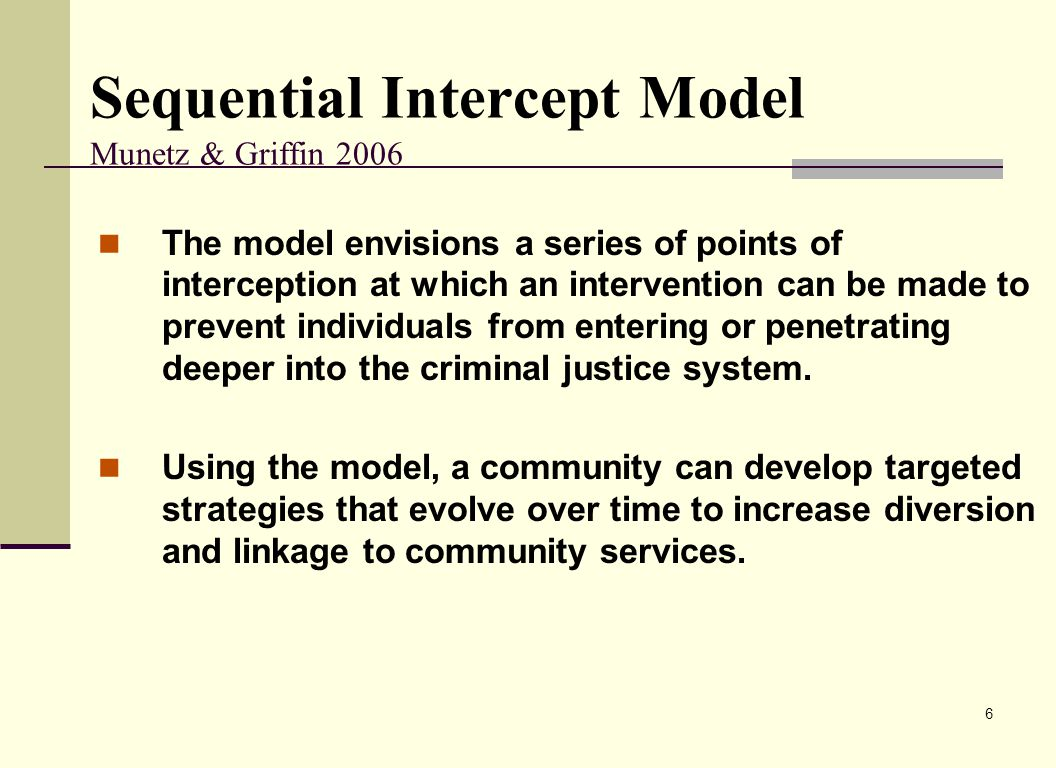 Sequential Intercept Model Munetz & Griffin 2006