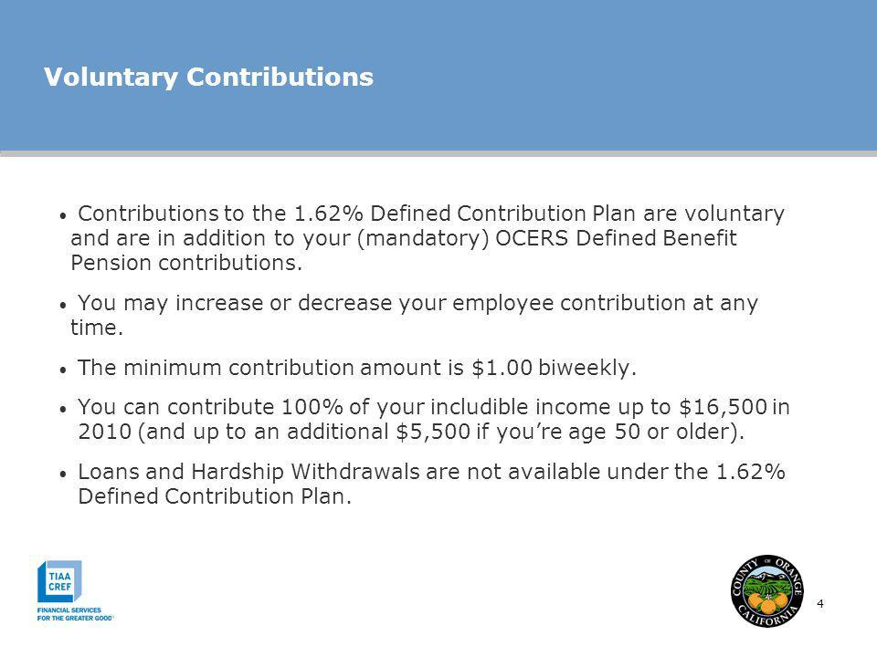 Voluntary Contributions