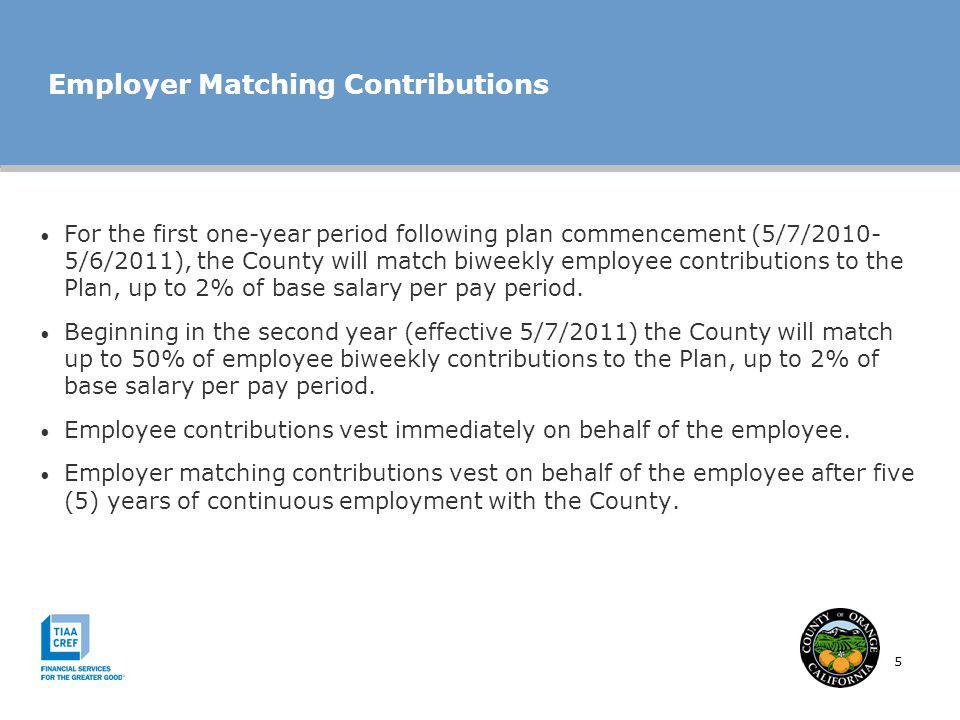 Employer Matching Contributions