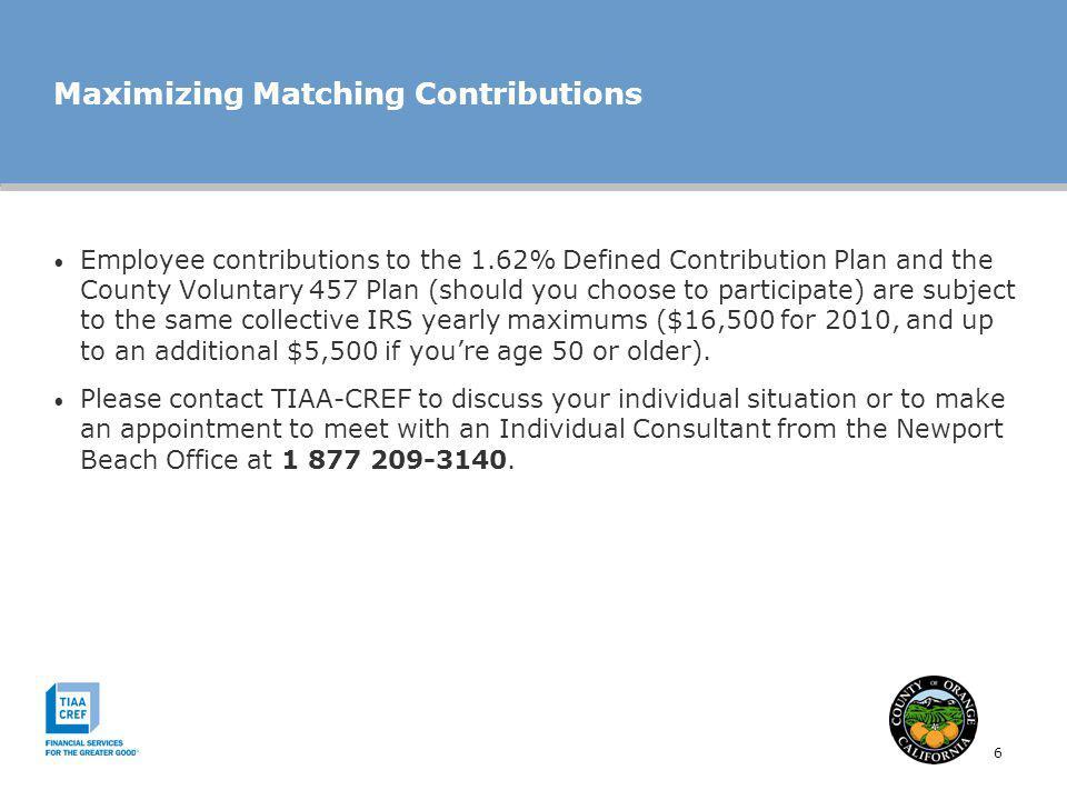 Maximizing Matching Contributions