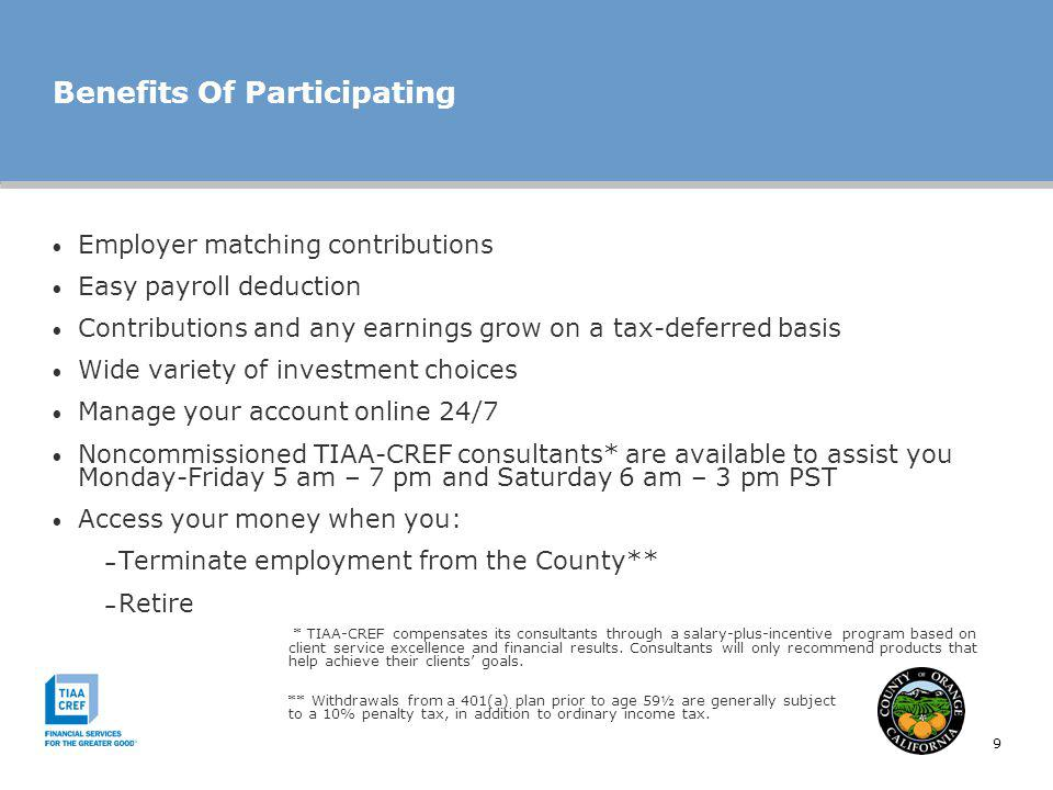 Benefits Of Participating