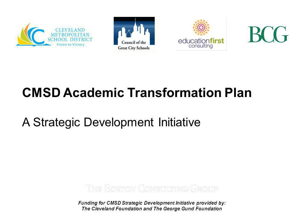 CMSD Academic Transformation Plan
