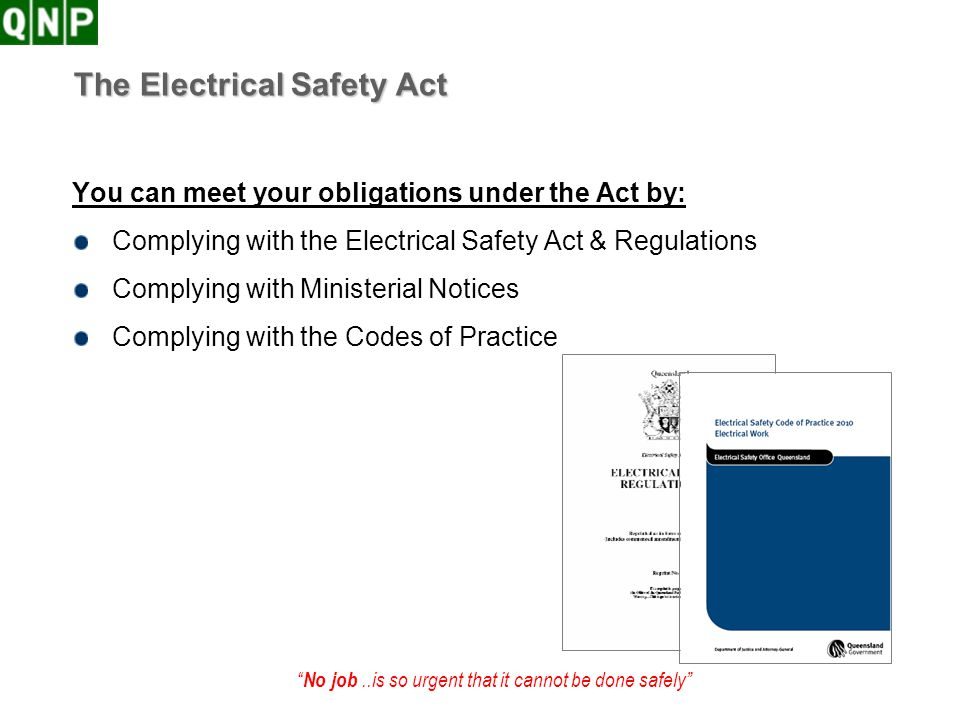 The Electrical Safety Act