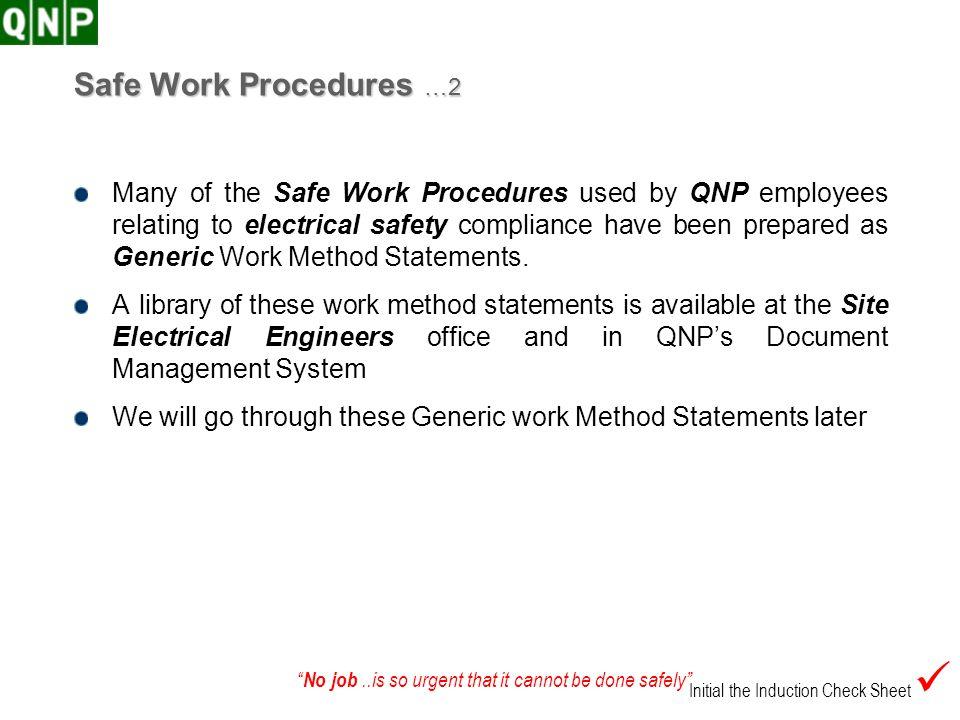Safe Work Procedures …2