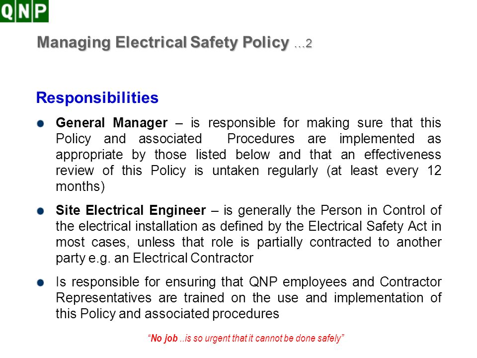 Managing Electrical Safety Policy …2