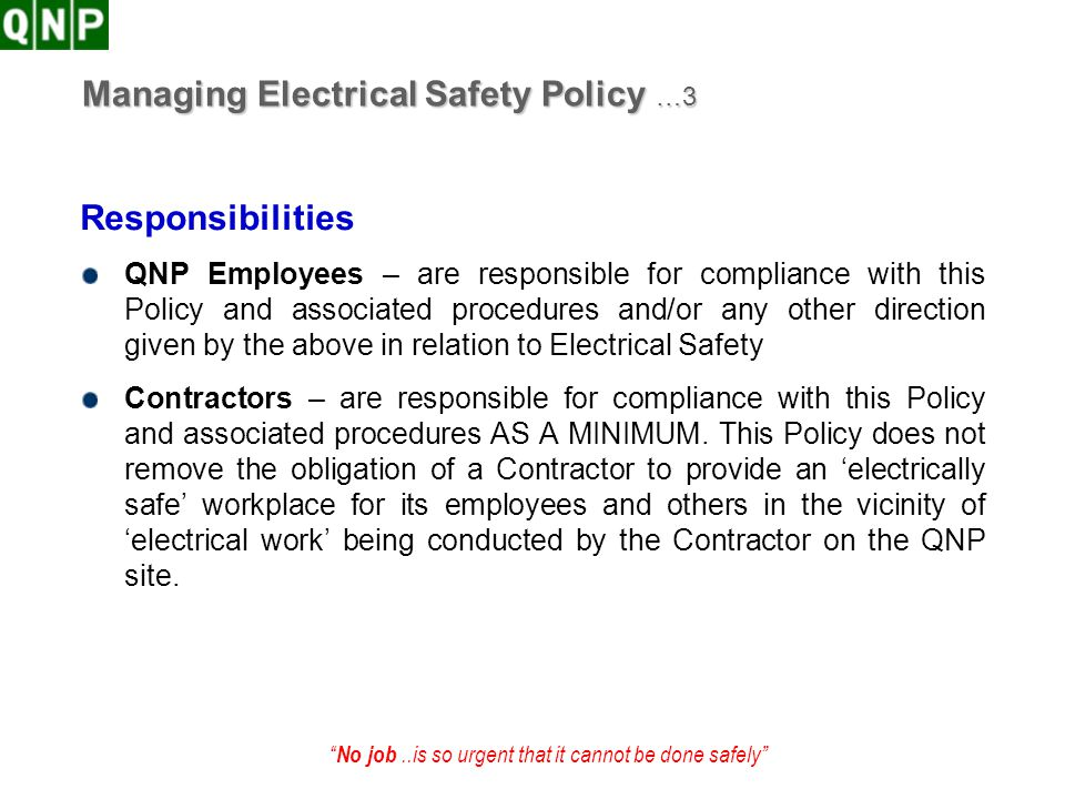 Managing Electrical Safety Policy …3