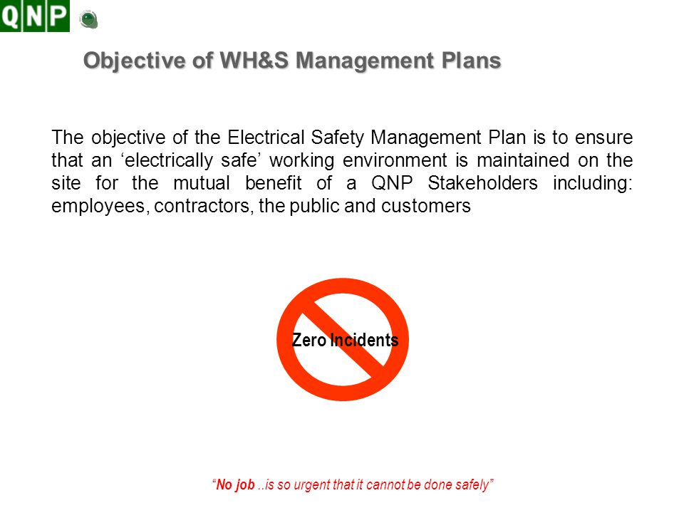 Objective of WH&S Management Plans