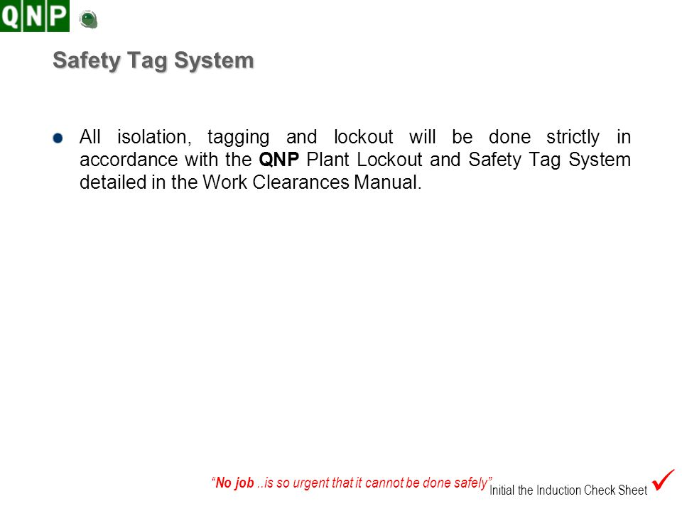 Safety Tag System