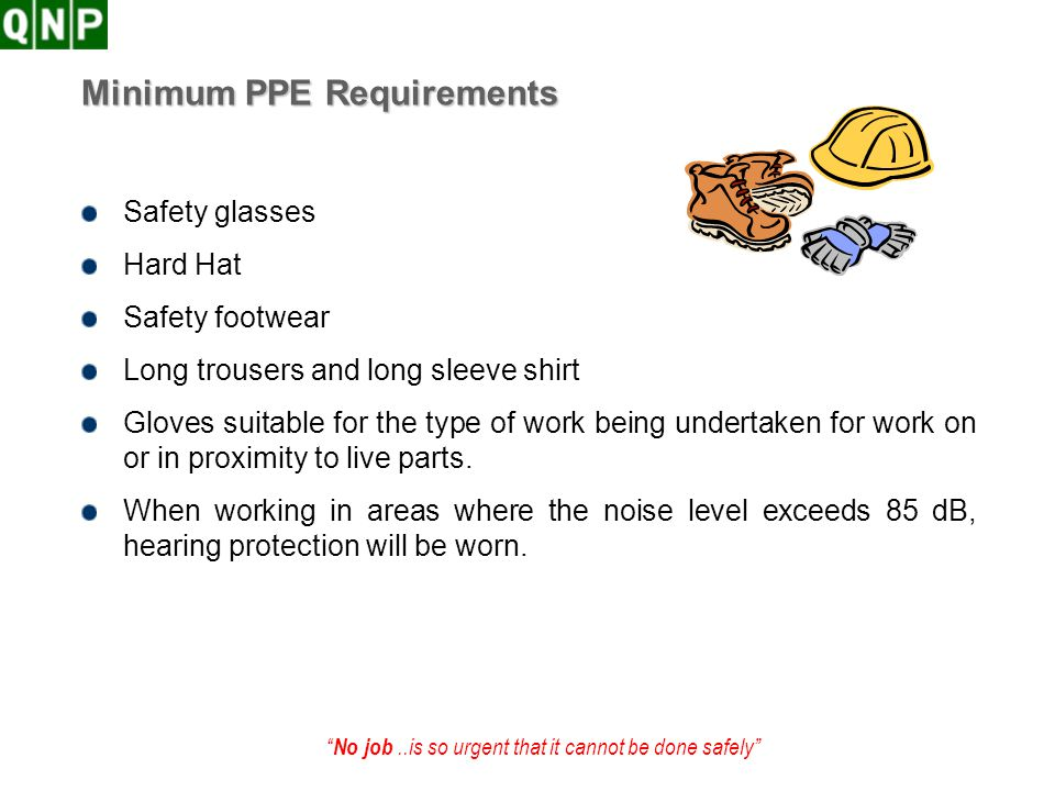 Minimum PPE Requirements