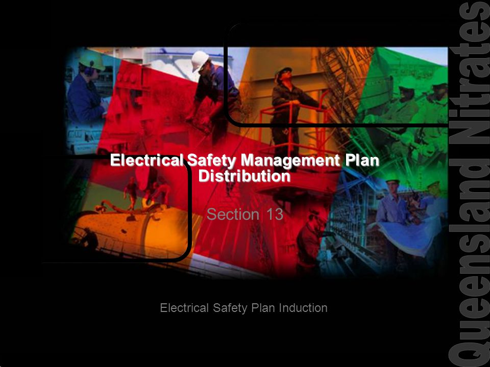 Electrical Safety Management Plan Distribution