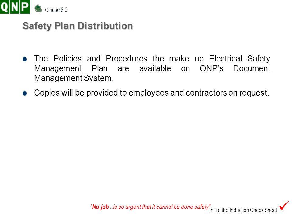 Safety Plan Distribution