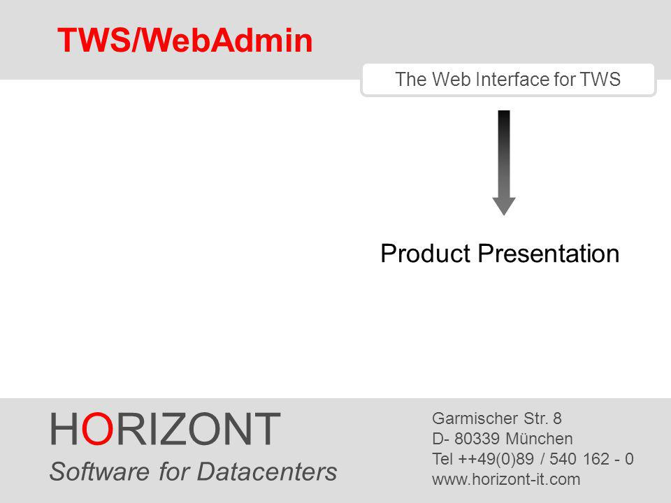 The Web Interface for TWS