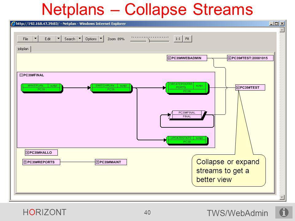 Netplans – Collapse Streams