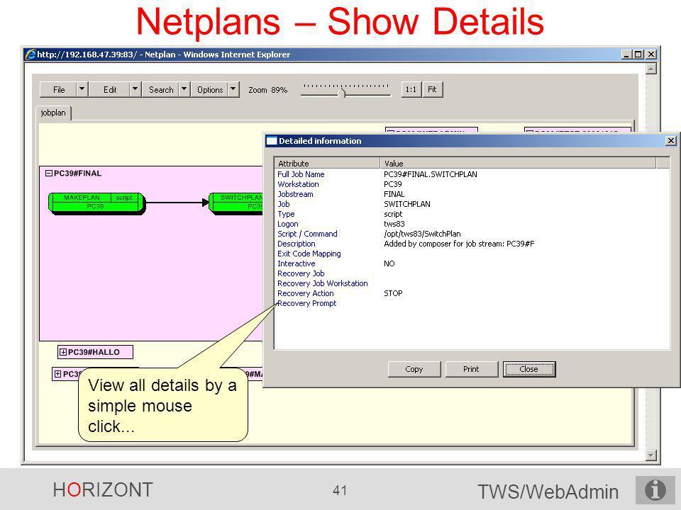 Netplans – Show Details