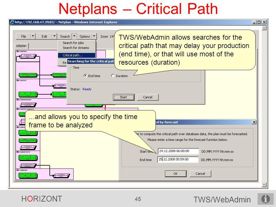 Netplans – Critical Path