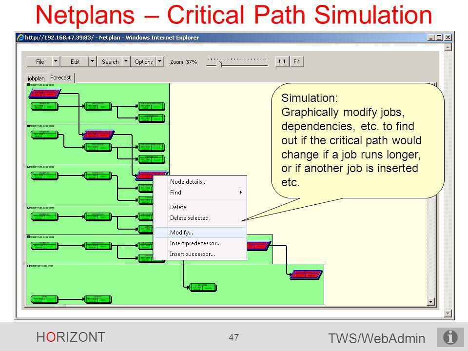 Netplans – Critical Path Simulation