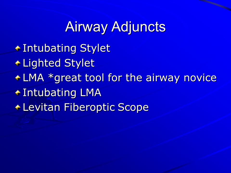 Airway Adjuncts Intubating Stylet Lighted Stylet