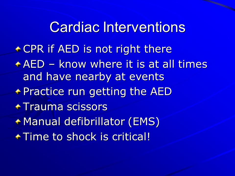 Cardiac Interventions