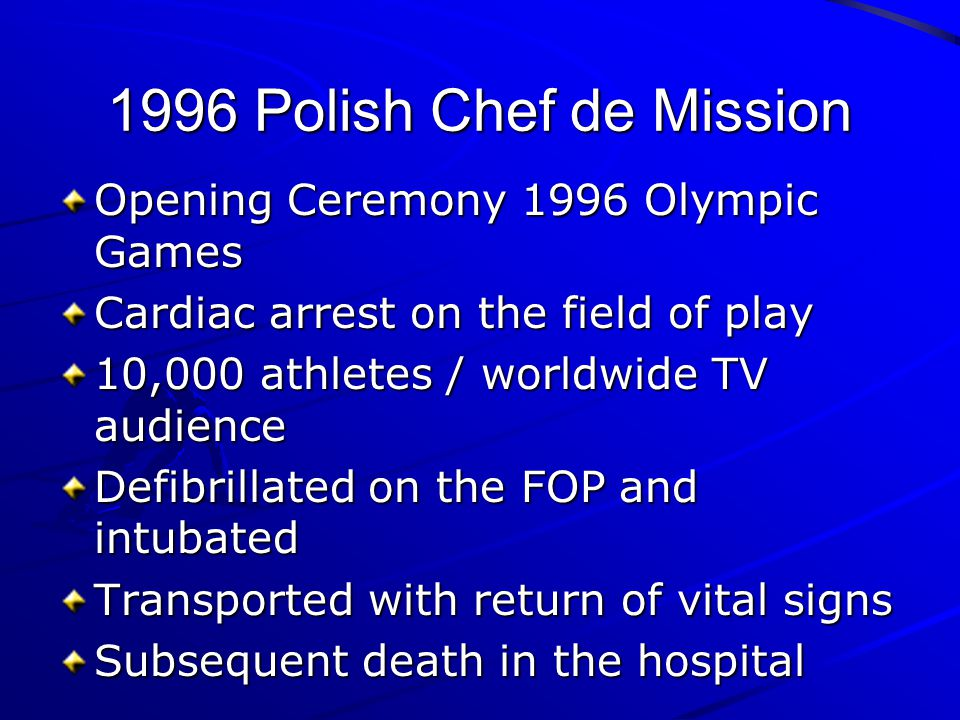 1996 Polish Chef de Mission Opening Ceremony 1996 Olympic Games