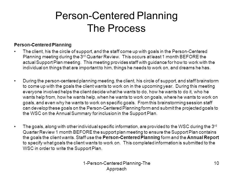 PERSON-CENTERED PLANNING 1: THE APPROACH - ppt video online download