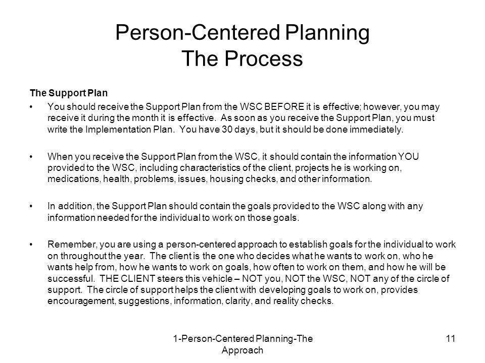 Person-Centered Planning The Process