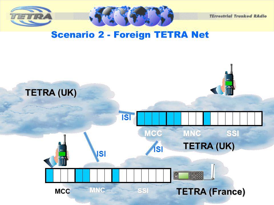 Scenario 2 - Foreign TETRA Net