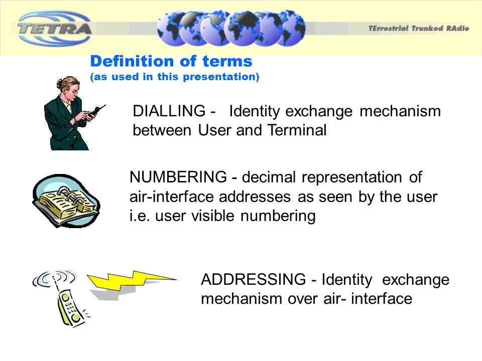 Definition of terms (as used in this presentation)
