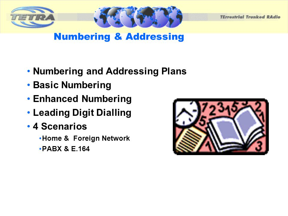Numbering & Addressing