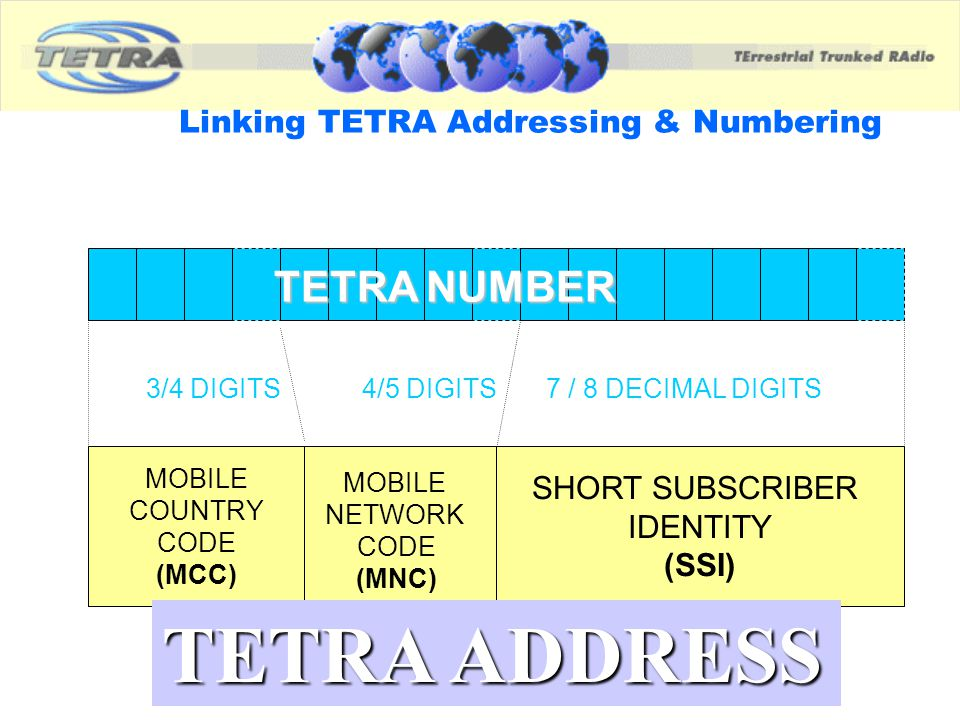 Linking TETRA Addressing & Numbering