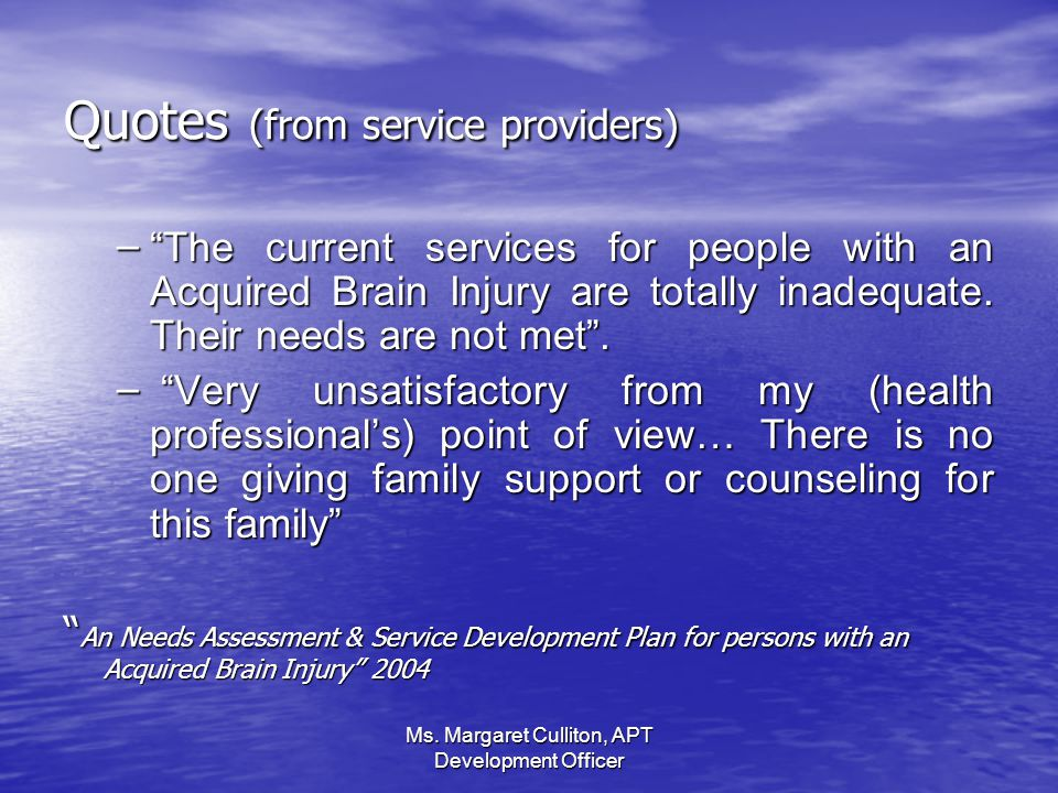 Quotes (from service providers)