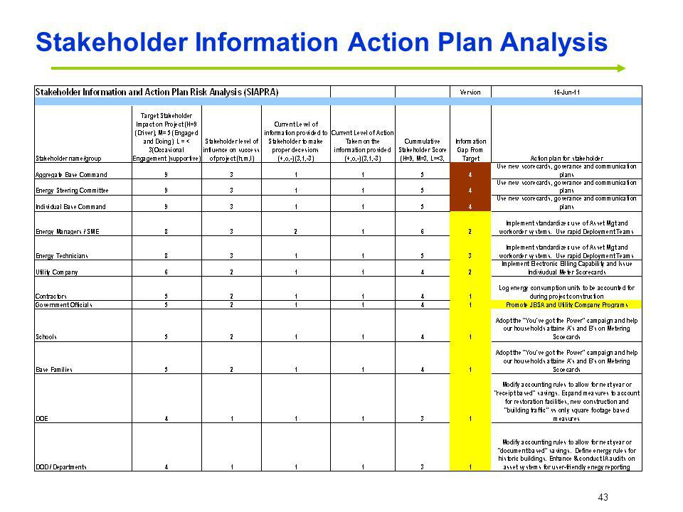 Stakeholder Information Action Plan Analysis