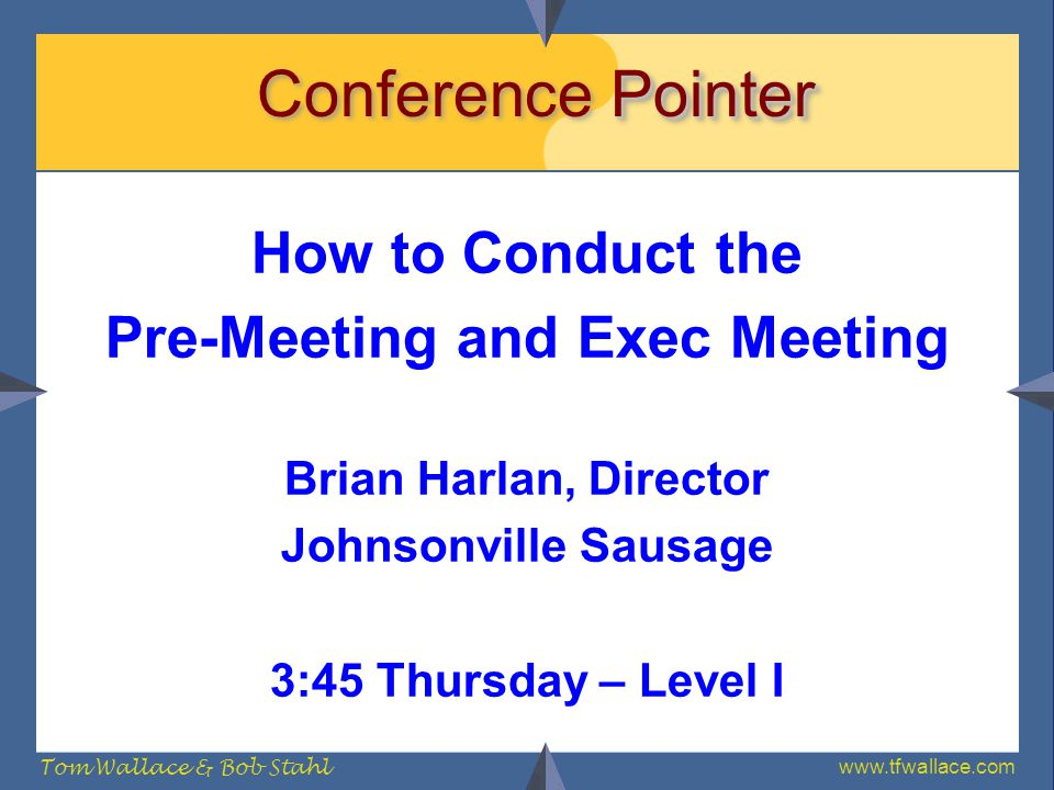 Pre-Meeting and Exec Meeting