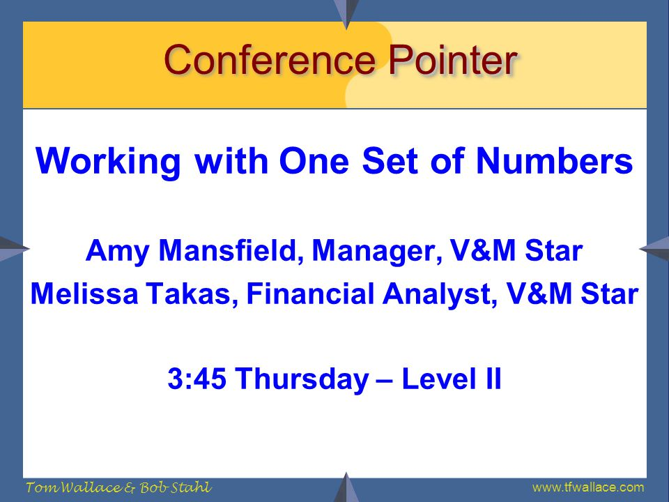 Conference Pointer Working with One Set of Numbers
