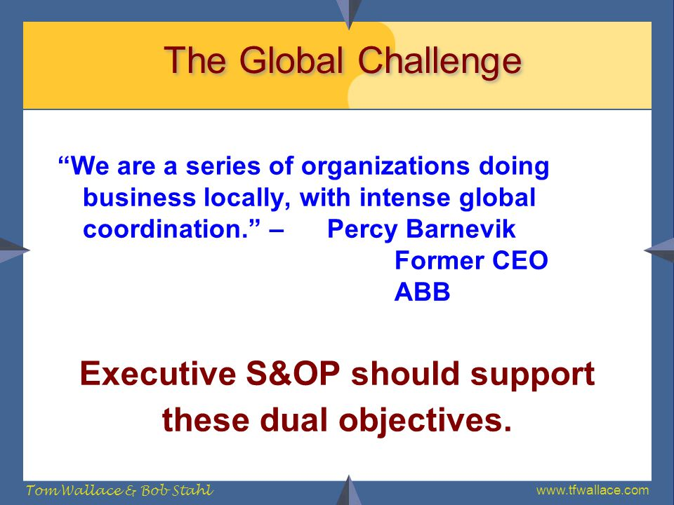 Executive S&OP should support