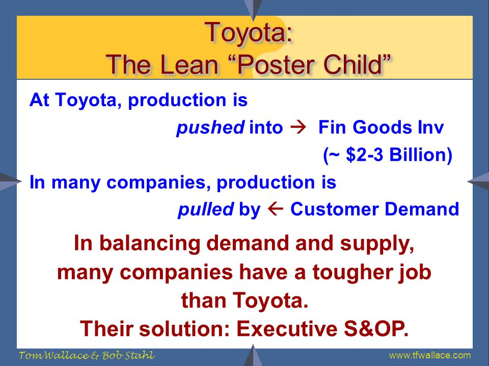 Toyota: The Lean Poster Child