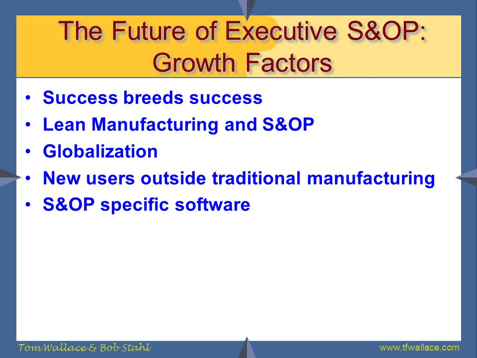 The Future of Executive S&OP: Growth Factors