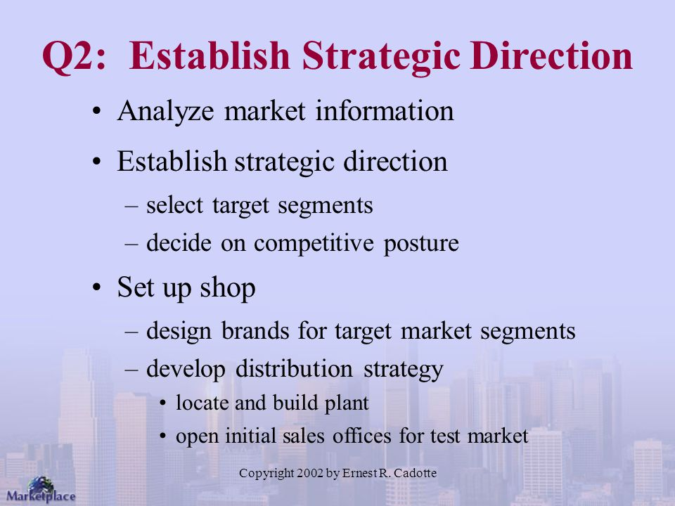 Q2: Establish Strategic Direction