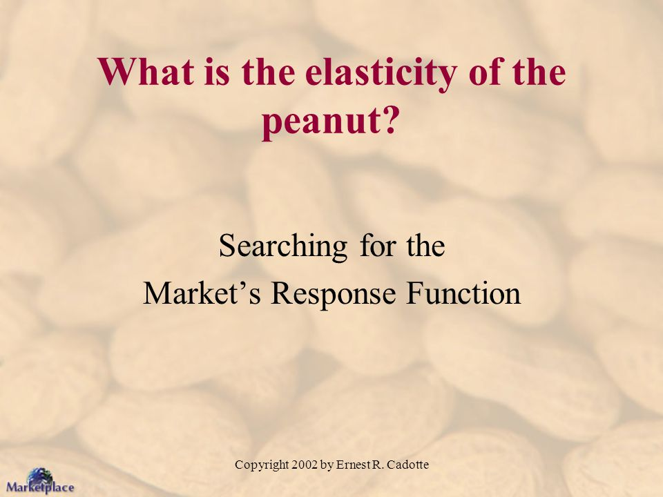 What is the elasticity of the peanut
