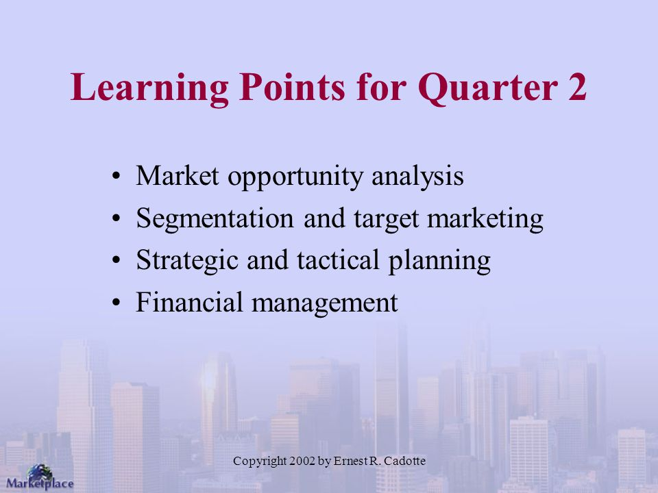Learning Points for Quarter 2
