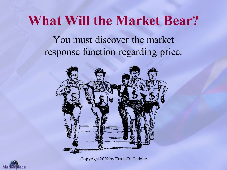 What Will the Market Bear