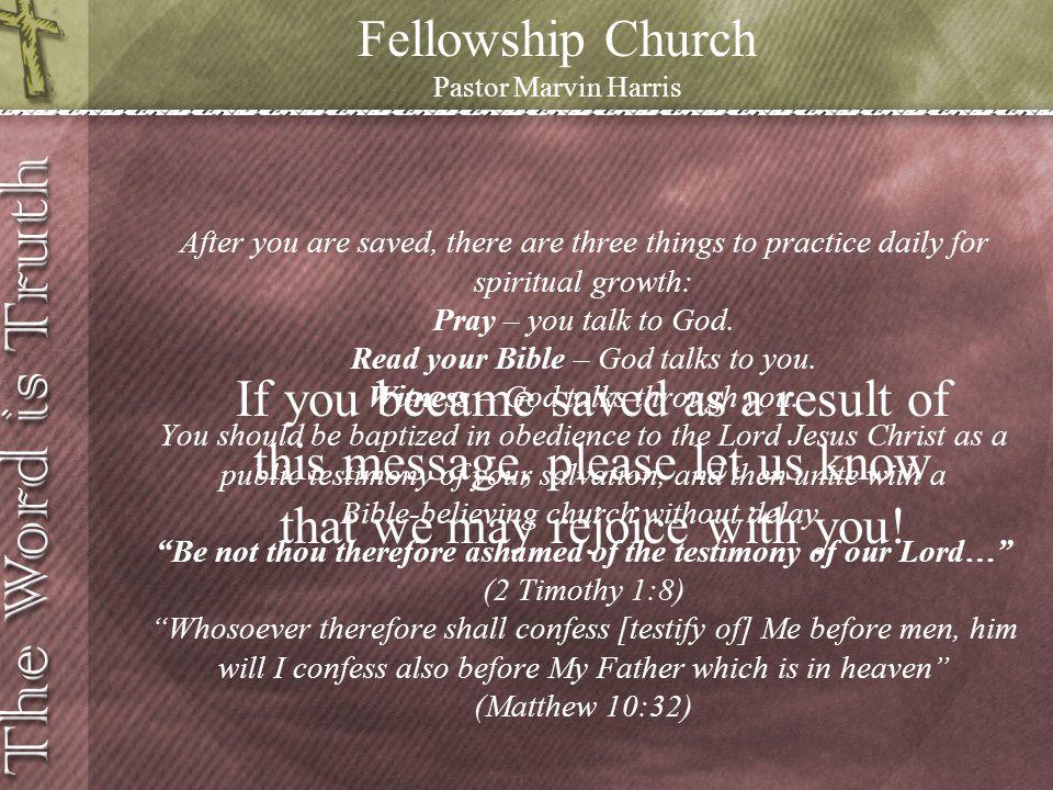 Fellowship Church Pastor Marvin Harris